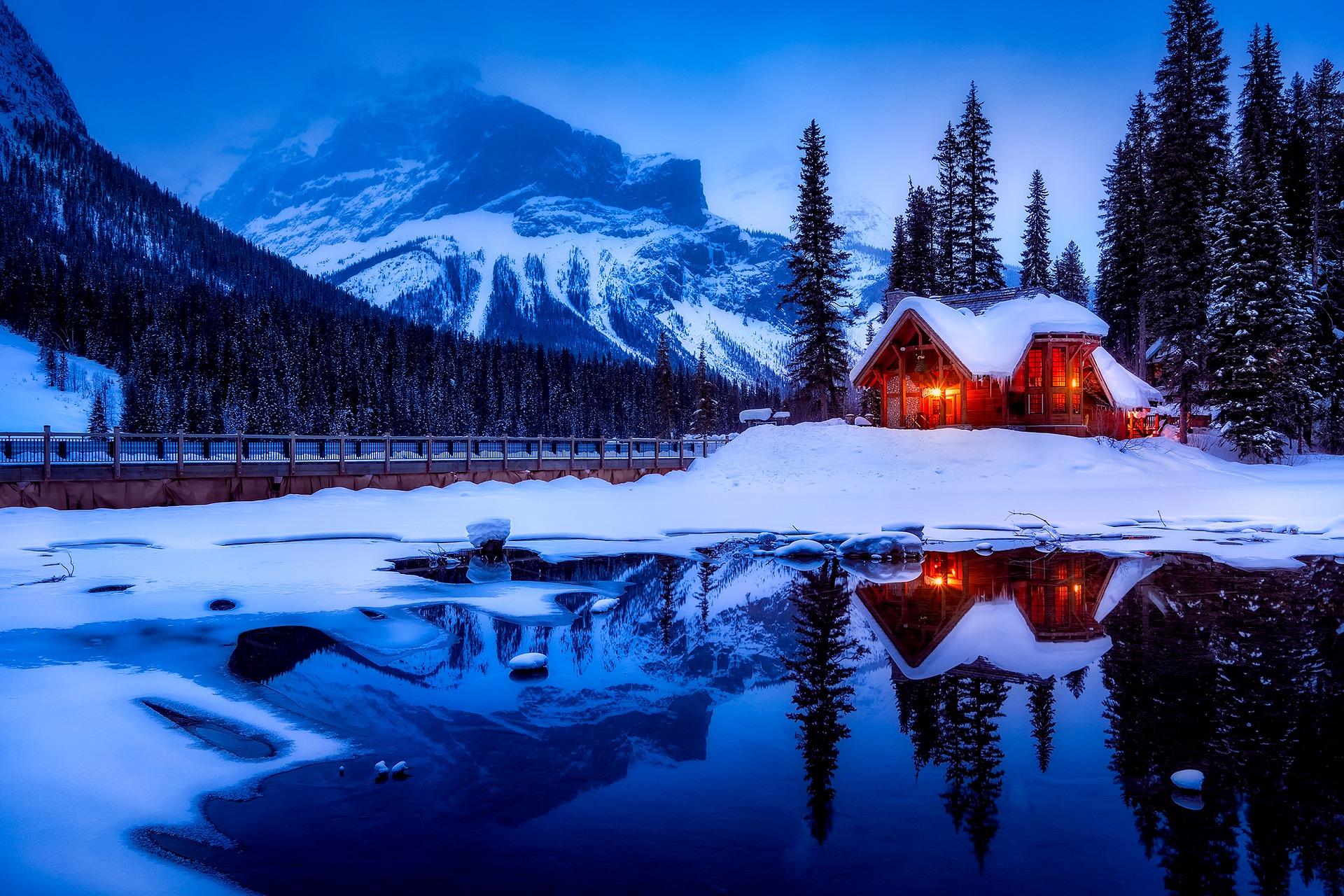 Ensam stuga i Kanada